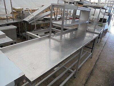 Commercial Catering Stainless Steel Table With Heated Gantry K4013