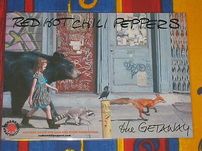 Red Hot Chili Peppers - The Getaway -  Laminated Promo Poster