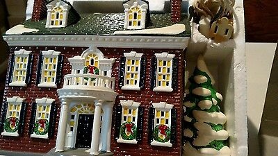 The original Snow Village Federal house American architecture series 5465 - 8