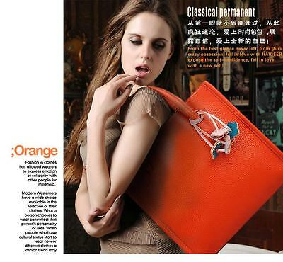 Womens Fashion Handbag Leather Shoulder Bags Lady Candy Color Flowers Large Tote
