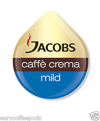 24 x Tassimo Jacobs Caffe Crema Mild Coffee T disc, Sold Loose, 24 Drinks