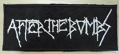 AFTER THE BOMBS embroidred patch Sacrilege Effigy Hellshock Axewield