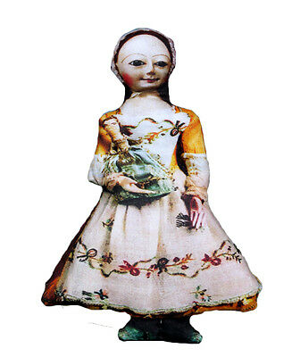 Queen Anne Lithographed Cloth Doll