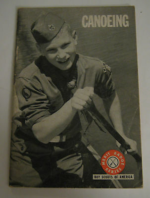 Boy Scouts of America BSA Canoeing Merit Badge Series 1971