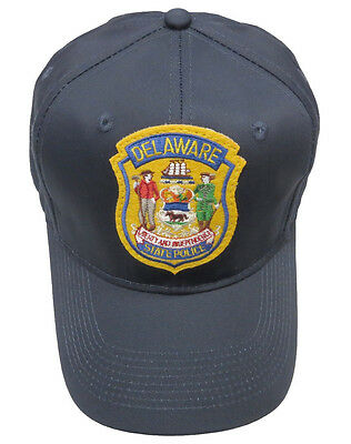 Delaware State Police Patch Snap Back Ball Cap, Navy Blue, Brand New