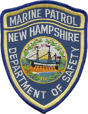 """New Hampshire Department of Safety Marine Patrol Shoulder Patch 5""""T x 3 3/4""""W"""