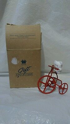Avon Christmas Ornament Bear on Tricycle NEW!