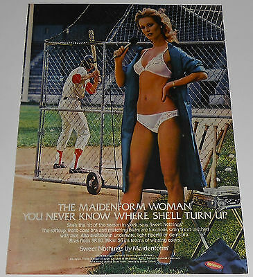 1982 vintage ad - MAIDENFORM WOMAN IN PANTIES - NEWS REPORTER - 1-PAGE PRINT AD