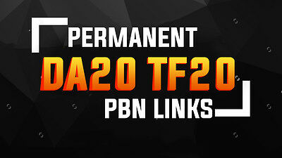 New SEO Package 5 Permanent PBN Links ( DA20+ & TF 20+)