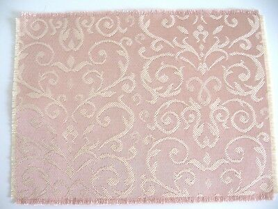 dollhouse doll house miniature FANCY WOVEN RUG CARPET REVERSIBLE PINK ROSE
