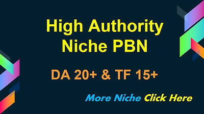 New SEO Package Niche PBN With High DA And TF
