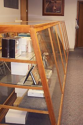 Display Cases Candy Store Counter Glass Sales Fixture Lot Of Two