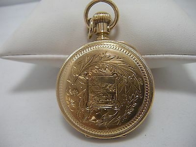 Solid 14K Gold Case American Waltham Pocket Watch Royal Movement 1883