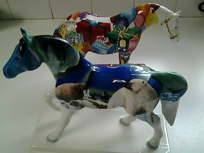 2 painted Ponies, Northern lights and Gift Ponie