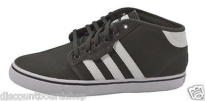 pretty nice 6c5e9 2c643 Adidas SEELEY MID Dark Cinder Gray White (D) 245 Skate Skateboarding Mens  Shoes