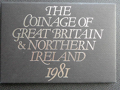 1981 Royal Mint Coinage of Great Britain and N Ireland Proof Coin Year Set