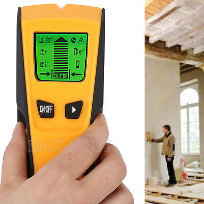 3 In 1 Stud Center Finder AC Live Wire Detector Scanners Wall  Metal Battery LCD