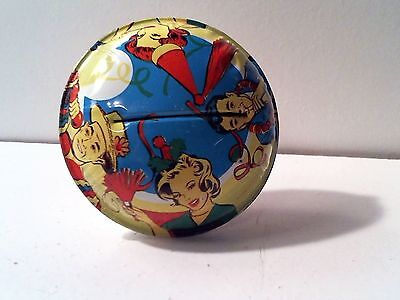 Vintage Tin Rattle Noisemaker - New Year - Birthday - Life of the Party - USA