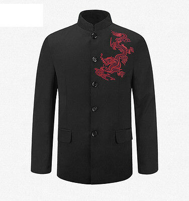 Chinese Tunic Suit Men's Traditional Stand Collar Suits Apec Leader Costume