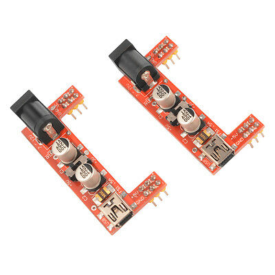2x Breadboard Power Supply Module 3.3V/5V for Solderless Arduino Mini USB TE568