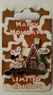 EPCOT Mickey Mouse Christmas Gingerbread House, 2010 Limited Edition, Rare MOC!