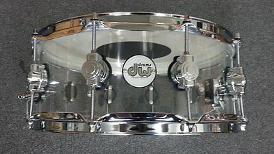 IN STOCK  DW Drum Workshop Design Series Seamless ACRYLIC 5.5x14 Snare Drum