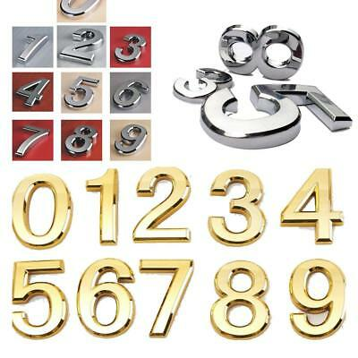 Sliver/Golded Plastic Self-Adhesive House Hotel Door Number Sticky Numeric Sign
