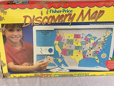 Fisher Price Discovery Map 1987. Educational Toy