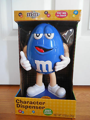 NIP 2016 M&M Blue Character Dispenser M&M's Candies Included