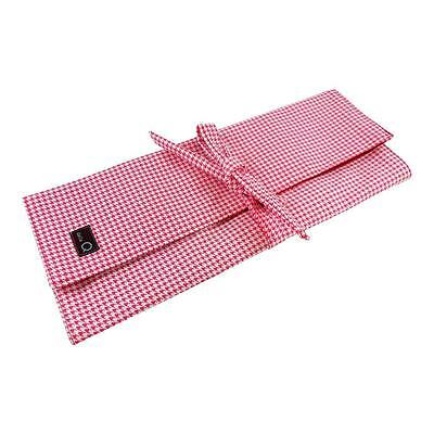 Della Q Lily Knitting Needle Combo Case 101-1 Straight Circular - Madison Red