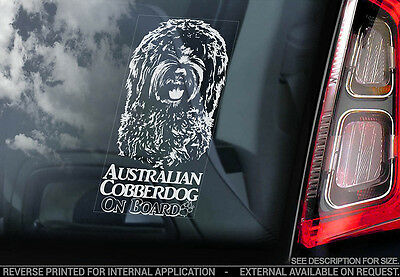 Australian Cobberdog - Car Window Sticker - Dog Sign -V01