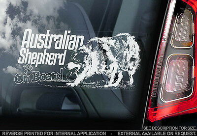 Australian Shepherd - Car Window Sticker - Dog Sign -V05