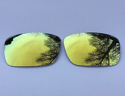 New Polarized 24K Gold Mirrored Replacement Oakley Fuel Cell Lenses