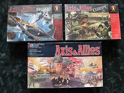Axis & Allies 3+ Game Lot 1984 Gamemaster + Europe + Pacific 1300 Miniatures
