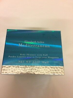 Elizabeth Arden, Mediterranean, Body Shimmer Powder With Puff