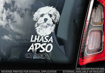Lhasa Apso - Car Window Sticker - Dog Sign -V01