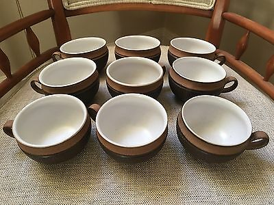 Lot of 9 DENBY Stoneware Pottery COTSWOLD Teacup Coffee Cup Set