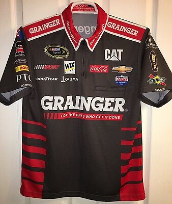 SM 2016 Ryan Newman GRAINGER CAT Racing RCR Pit Crew Shirt Nascar Chevy Sparco