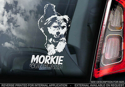 Morkie - Car Window Sticker - Dog Sign -V01