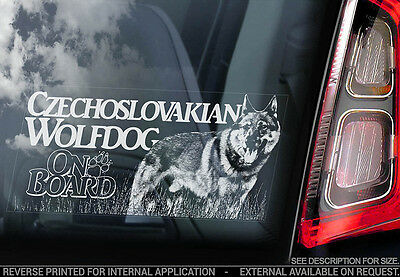 Czechoslovakian Wolfdog - Car Window Sticker - Dog Sign -V07