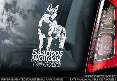 Saarloos Wolfdog - Car Window Sticker - Dog Sign -V01