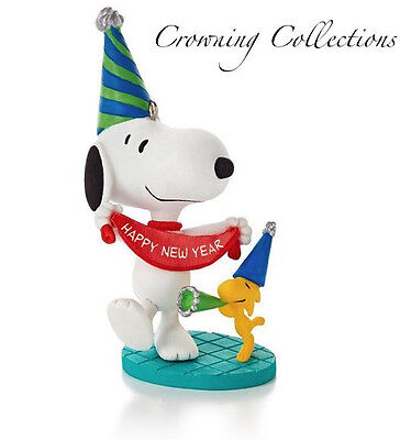 2014 Hallmark New Year's Celebration Snoopy Ornament Happiness is Year Peanuts