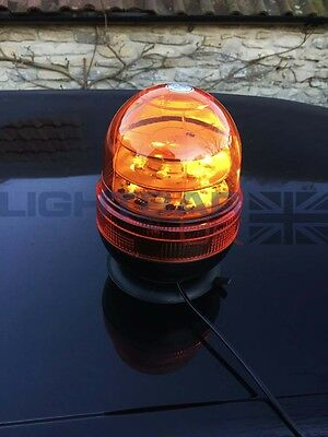 Magnetic Mount Agriculture Rotating Flashing Amber LED Strobe Beacon R65 3W