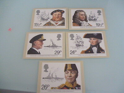 great britain 1982 PHQ Cards series 60 Maritime Heritage  mint gset of 5
