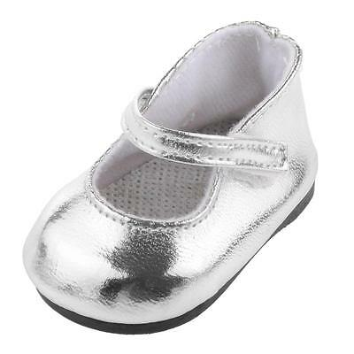"""Fashion Silver Party Shoes for 18"""" American Girl Doll Clothes Accessories"""