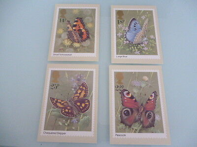 great britain 1981 PHQ Cards series 51 Butterflies    mint set of 4