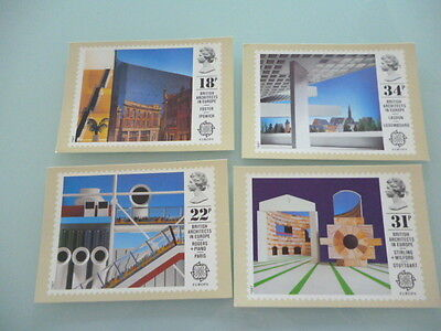 great britain 1987   PHQ Cards series 101 British Architects in Europe mint set