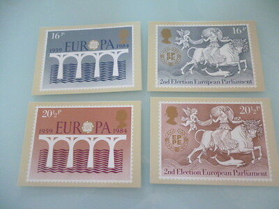 great britain 1984 PHQ Cards series 75 Euroa  of 4  mint
