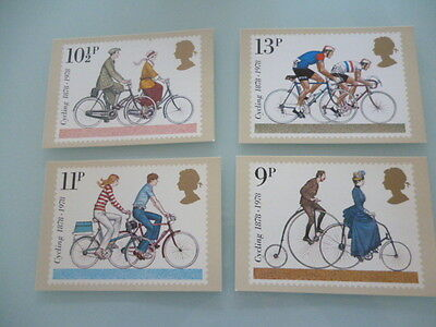 great britain 1978 PHQ cards Series 31 Cycling   x 4  full mint set
