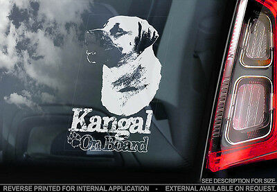 Kangal - Car Window Sticker - Dog Sign -V01